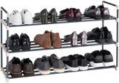 Acaza Schoenenrek - Voor 15 Paar Schoenen - Metaal - Grijs