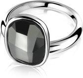 Zinzi ZIR1007Z54 Ring - Zwarte Swarovski Kristal - Maat 54