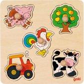 Goki Houten platteland puzzel 5-delig