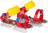 Nijdam Junior Glij-ijzers Verstelbaar - Uni - Rood/Blauw/Geel