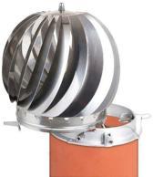 Ventura CV Installatiemateriaal Roterende Schoorsteenkap spinner plus RVS