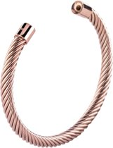 Melano twisted Taylor armband - Roségoudkleurig - Dames - Maat Large