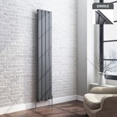 Designradiator Thera Flat Single Antraciet - 160 x 30 cm