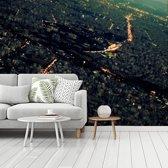 Fotobehang vinyl - Uitzicht over Teheran met een prachtige verlichting breedte 535 cm x hoogte 400 cm - Foto print op behang (in 7 formaten beschikbaar)