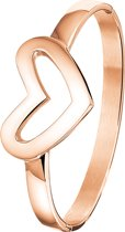 The Jewelry Collection Armband Hart 60 mm - Staal