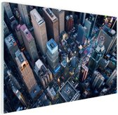 Times Square van boven Glas 30x20 cm - Foto print op Glas (Plexiglas wanddecoratie)
