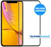 iPhone Xr Glazen screenprotector (FULL COVER) (ZWART) | Tempered glass | Gehard glas