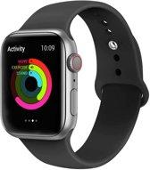 Apple watch 42mm / 44mm rubberen bandje sport - Zwart M/L