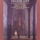 Faure: Requiem Op 48, Cantique de Racine, etc / Matthew Best