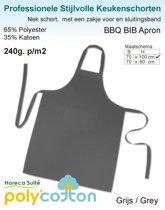 Homéé - Keukenschorten BBQ Apron antraciet grijs 240g. p/m2   Set van 2 stuks   70x100cm