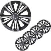 Wieldoppen - Wieldoppenset - Terra zwart/zilver- 15 inch - 4 stuks
