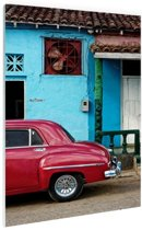 Kleurrijk Cuba Glas 80x120 cm - Foto print op Glas (Plexiglas wanddecoratie)