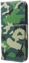 Camouflage agenda wallet hoesje Huawei P20 Lite