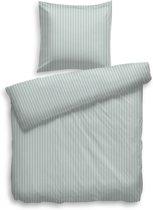 Dekbedovertrek DE Uni Stripe chalk blue - 100% Katoen-satijn