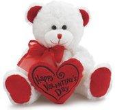 Valentijn zittende witte  beer