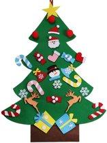 WeijerZee Vilten Kerstboom Voor Kinderen - 1 meter - Inclusief klittenband speelgoed