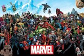 Poster collage Marvel helden universe Hulk en Iron Man
