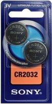 Sony 2x CR2032 3V Lithium 3V niet-oplaadbare batterij
