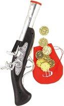 Rubie's Pistool Met Munten Cowboy Zwart/zilver 10-delig