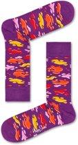 Happy Socks Puddle Paars, Maat 36/40