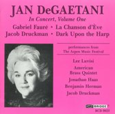 Jan DeGaetani in Concert Vol 1 - Faure, Druckman / Luvisi