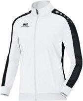Jako Striker Polyester Trainingsjas Heren Trainingsjas - Maat L  - Mannen - wit/zwart