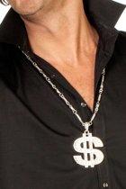 Halscollier $ teken groot zilver