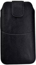 Sony Ericsson Xperia M2 D2302 Zwart Insteekhoesje met riemlus en opbergvakje