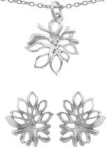 Orphelia SET-6027 - Juwelenset: Ketting + Oorbellen - Zilver 925 - Zirkonia - 45/1.2 cm