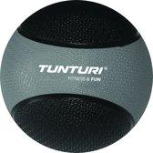 Tunturi  Medicine Ball - Medicijnbal - Crossfit ball - 5 kg - Zwart/Grijs Rubber