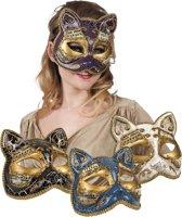 16 stuks: Masker Venetie - gatto in 4 kleuren - assorti