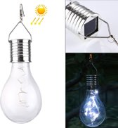 IP55 Waterdichte LED zonne-energie koperdraad lamp  5 LEDs milieu vriendelijke hangende Lamp met zonnepaneel (wit licht)