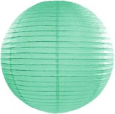 Decoratieve lampion turquoise 35cm