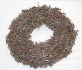 Krans - Herstkrans - Kerstkrans - Bonsai - Hout - Bruin - Naturel - Zilver - Bruin - Glitter
