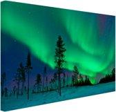 FotoCadeau.nl - Noorderlicht boven Zweden Canvas 120x80 cm - Foto print op Canvas schilderij (Wanddecoratie)
