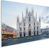 De Kathedraal van Milaan in Italië Plexiglas 30x20 cm - klein - Foto print op Glas (Plexiglas wanddecoratie)