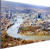 Luchtfoto van Londen Aluminium 90x60 cm - Foto print op Aluminium (metaal wanddecoratie)