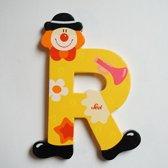 Sevi - Houten Clown letter R - geel