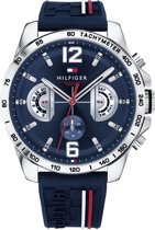 Tommy Hilfiger TH1791476 Horloge - Silliconen - Blauw - 46 mm