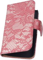 Lace Bookstyle Hoes voor Nokia Lumia 830 Rood