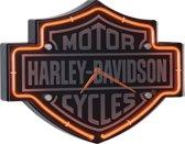 Harley-Davidson Ge-Etst Logo Neon Klok