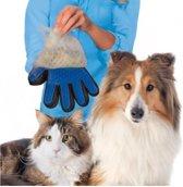 Borstel handschoen voor dieren - Vachtverzorgingshandschoen - Dierenborstel - Handschoenborstel Blauw