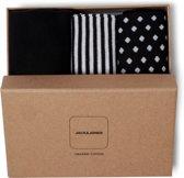 Jack & Jones - Heren 3-Pack Giftbox Sokken Zwart Wit - One size