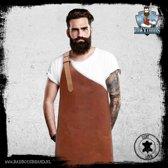 Maximus - 100 % Leren Schort - Cognac - BadBoysBrand - Made in Jail - Vaderdag -