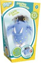 Totum foamdough springend monster blauw - maak een grappig monster met zelfdrogende klei