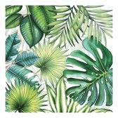 20x Tropische / jungle thema servetten 33 x 33 cm - Papieren servetten 3-laags