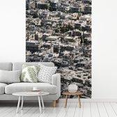 Fotobehang vinyl - Stadsbeeld van volgebouwd centrum Damascus in Syrië breedte 210 cm x hoogte 320 cm - Foto print op behang (in 7 formaten beschikbaar)