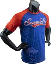 Super Pro Combat Gear T-Shirt Sublimatie Challenger Blauw/Rood/Wit Medium