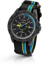 VR46 Collection by TW Steel -  Polshorloge  - 40 mm -  Carbon - Zwart