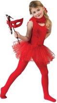 Dans & Entertainment Kostuum | Rode Ballerina Belicia | Meisje | Maat 140 | Halloween | Verkleedkleding